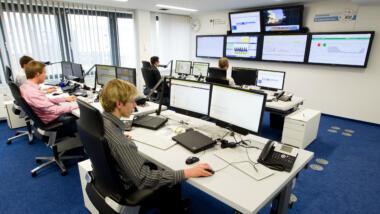 Büro mit Computern
