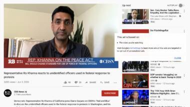 """Anzeige über """"Flüchtlingsflut"""" auf Youtube"""