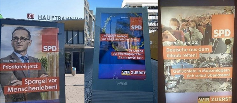Gefälschte SPD-Plakate