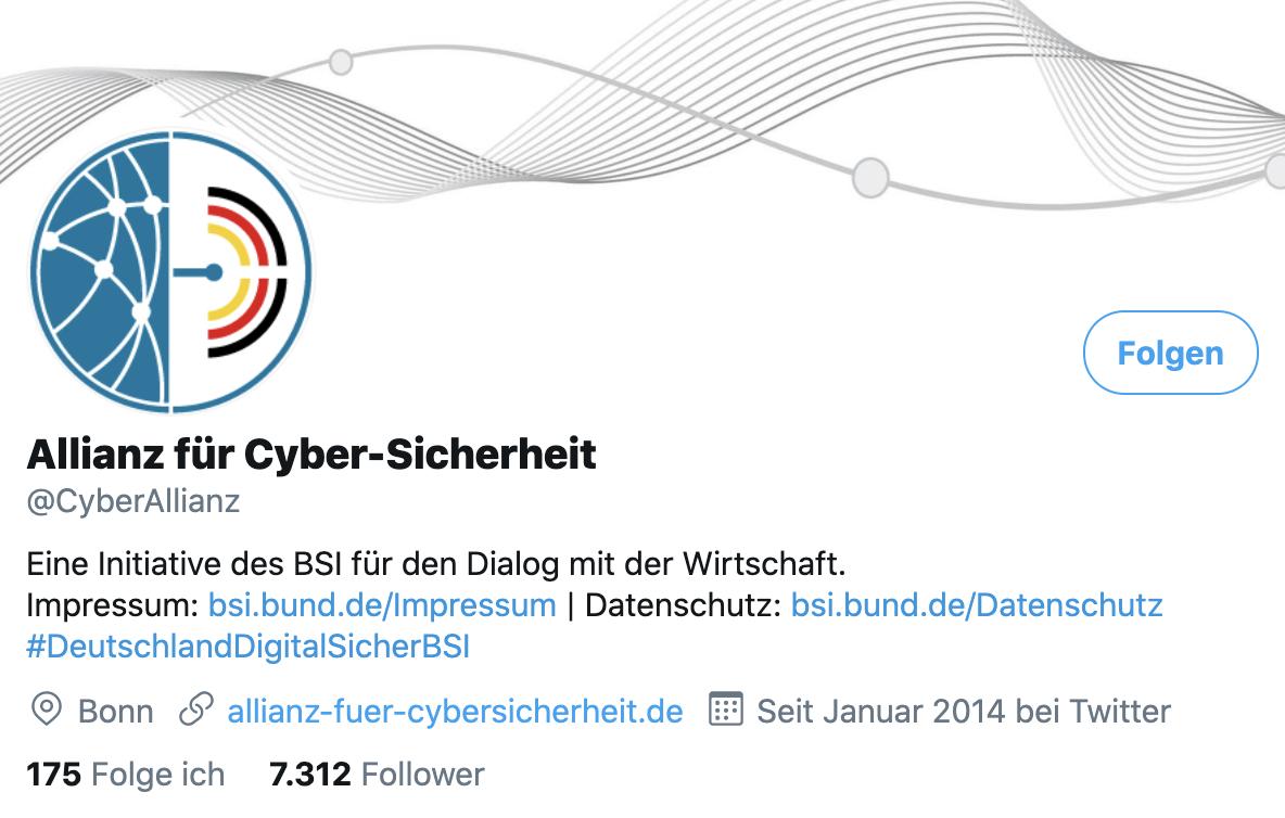 bsi-twitter-account cuber-allianz