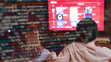 Bildschirm und Code