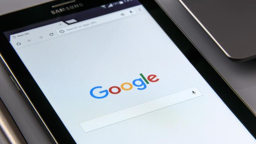 Google Suchfeld auf Tablet