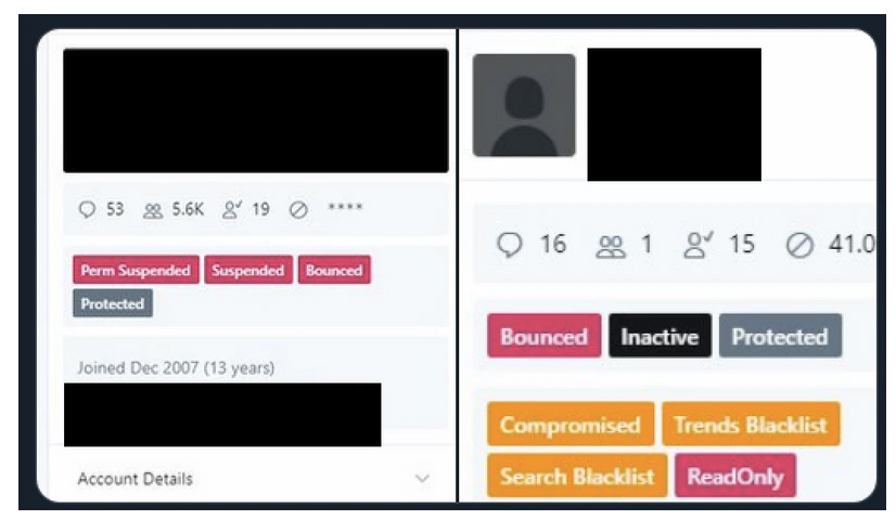 Internes Adminpanel Twitter