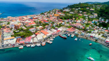 Luftbild St. Georges auf Grenada