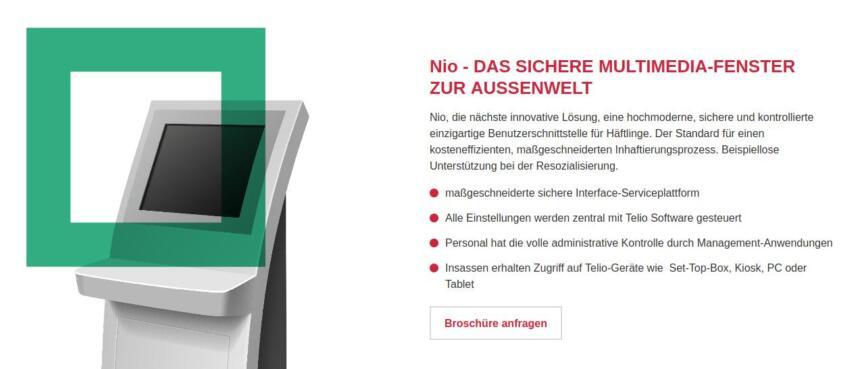 Screenshot der Telio-Produktseite zu Nio