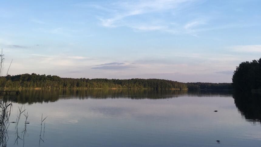 Ein See in Brandenburg