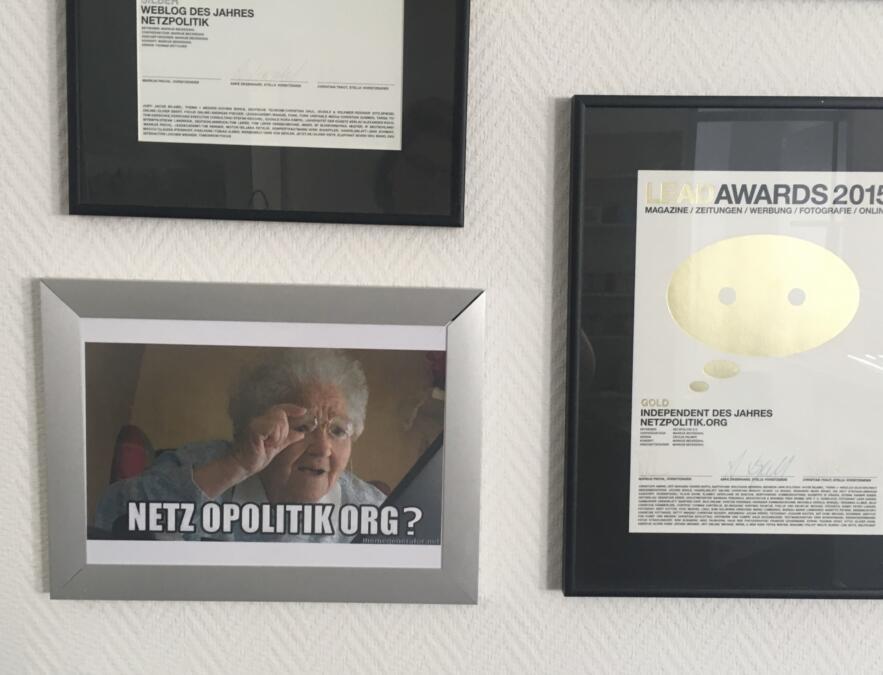 Das Meme an unserer Wall of Fame.