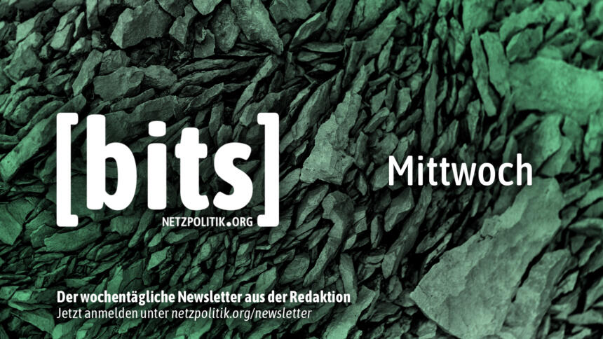 Der bits-Newsletter erscheint auch am Mittwoch.