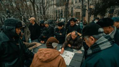 Chinastämmige US-Amerikaner:innen in einem Park