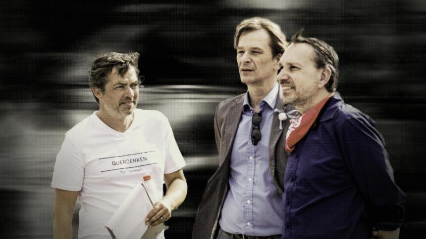 Michael Ballweg, Bodo Schiffmann und Ralf Ludwig