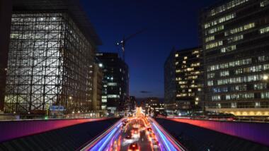 Der Schuman-Platz in Brüssel