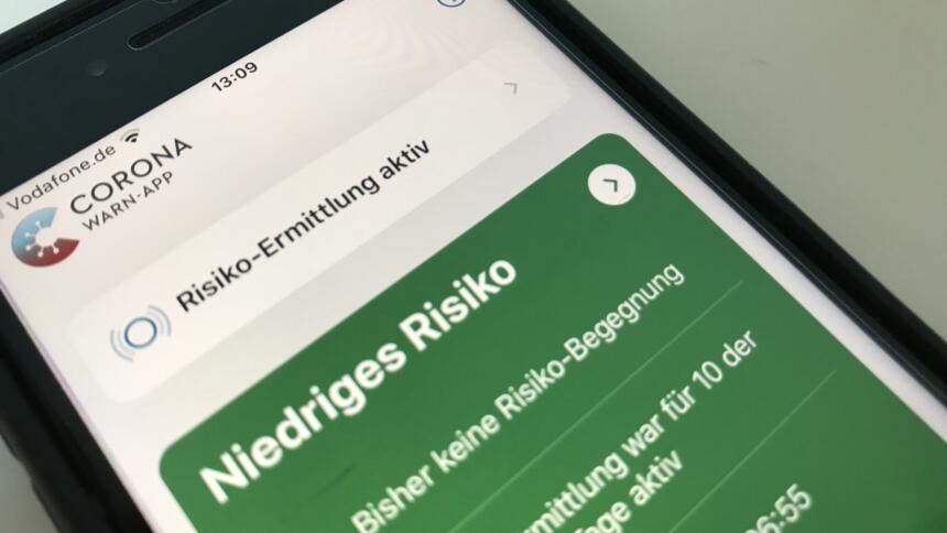 Corona-Warn-App zeigt grün