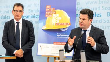 Gerd Müller und Hubertus Heil