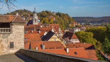 Hügeliges Tübingenpanorama