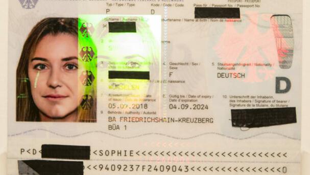 Reisepass mit gemorphtem Passbild