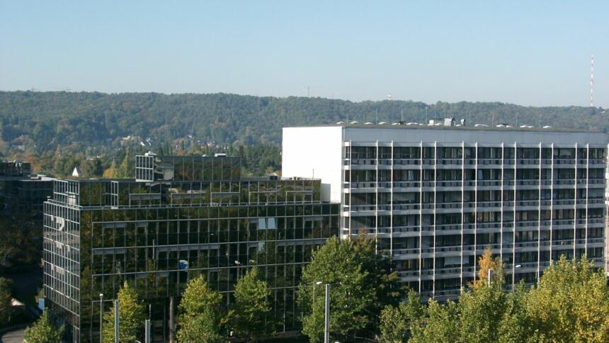 Eine Totalaufnahme der Zentrale des Bundesamt für Sicherheit und Informationstechnik in Bonn.