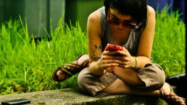 mobiltelefon-nutzerin