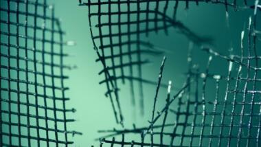 Gerissenes Netz