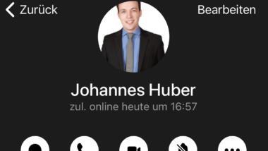 Telegram-Profil Johannes Huber