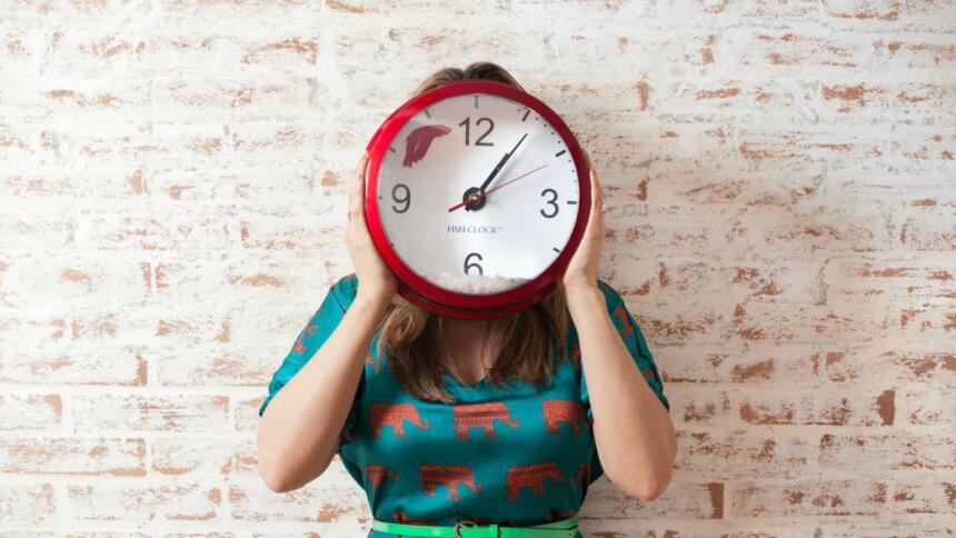 Uhr Terreg-Löschfrist