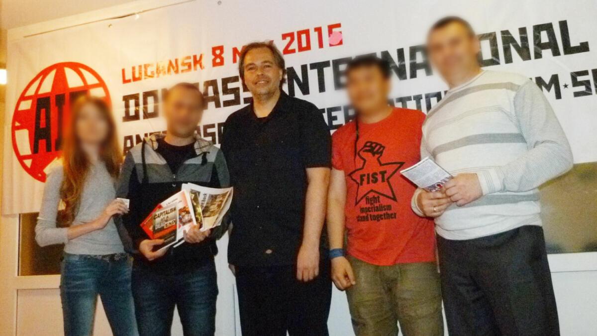Greg Butterfield bei einem Besuch in der von Separatisten kontrollierten Stadt Luhansk