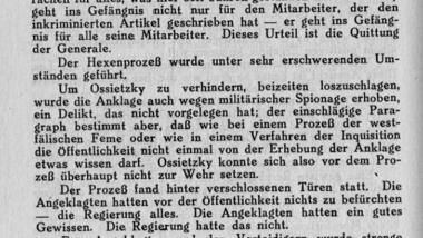tucholsky 1932 ueber ossietzky