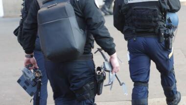 Die französische Gendarmerie am 28. November in Paris.