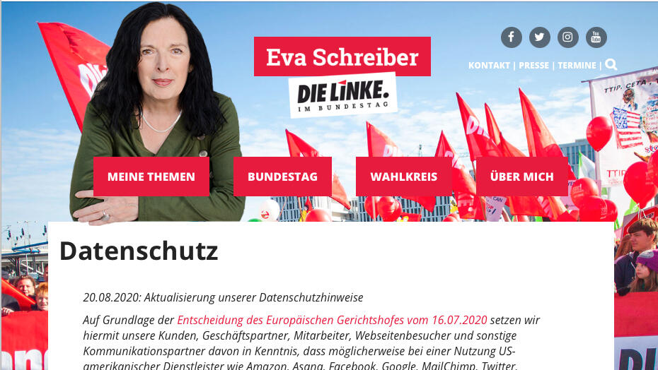 Screenshot Eva Schreiber