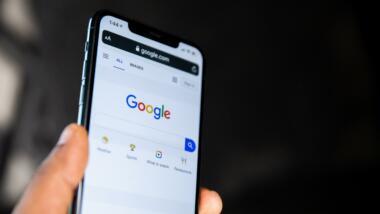 Handy mit Google-Suche