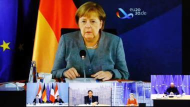 Videokonferenz mit Merkel