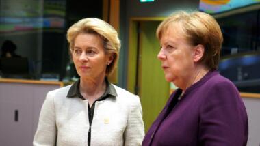 Von der Leyen und Merkel