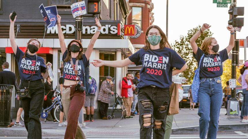 Junge Biden/Harris-Fans