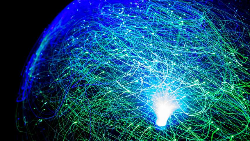 Weltkugel mit Glasfaser