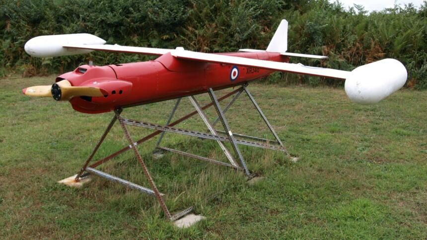 Ihre ersten Drohnen erhielt die Bundeswehr ab 1961 vom US-Militär (hier ein Modell der britischen Armee).