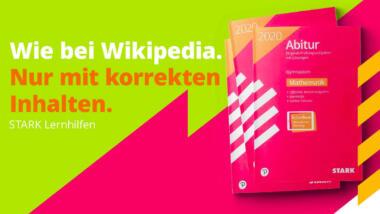 Eine Werbung von Stark mit der Beschriftung: Wie bei Wikipedia. Nur mit korrekten Lerninhalten.