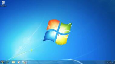 Ein Screenshot der Startoberfläche von Windows 7.