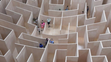 Labyrinth von oben fotografiert