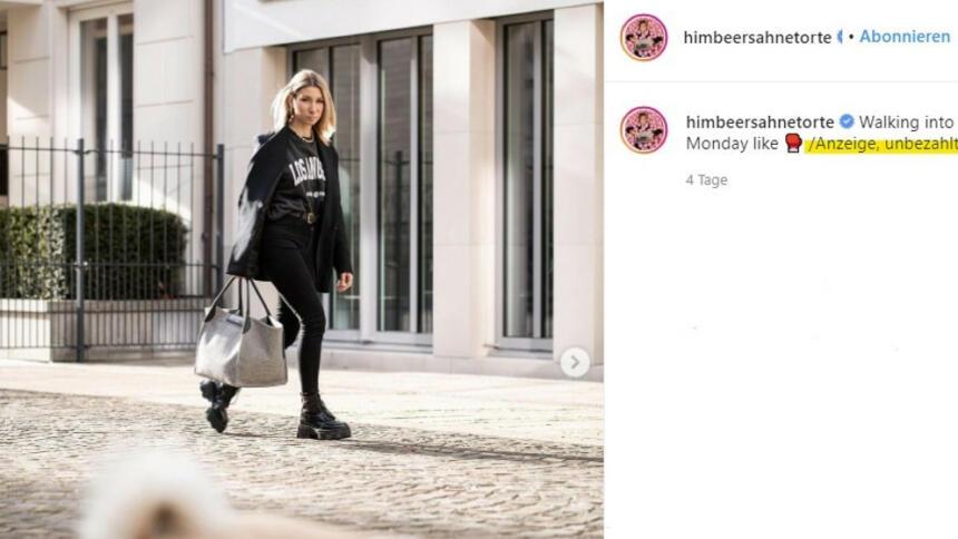 Screenshot eines Instagram-Beitrags von Ann-Katrin Schmitz