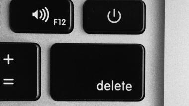 Delete-Button auf einer Computertastatur