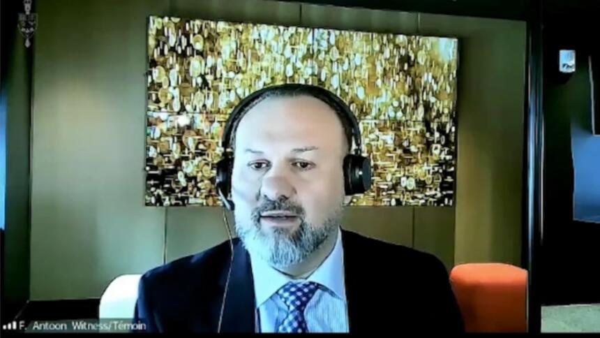 Mindgeeks kanadischer CEO Feras Antoon in der Anhörung