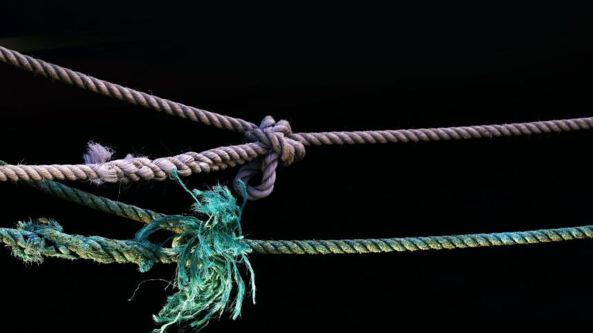 Aufgespannte Seile