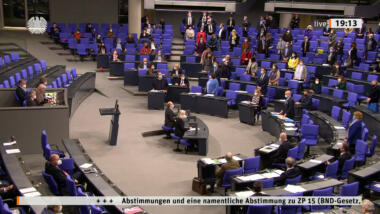 Abstimmung Plenarsaal Bundestag