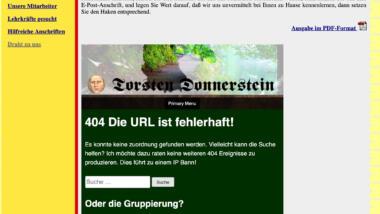 Website der Rendsburger Nachhilfeschule im Dezember 2019 mit Torsten-Donnerstein-Inhalten