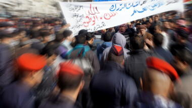 Demonstration in Jordanien