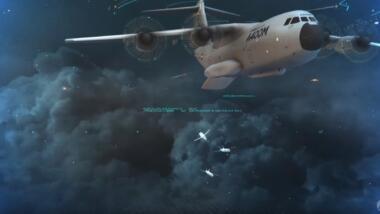 Den Abwurf von Drohnenschwärmen aus einer A400 hat die Luftwaffe bereits in einem Forschungsprojekt mit Airbus simuliert.