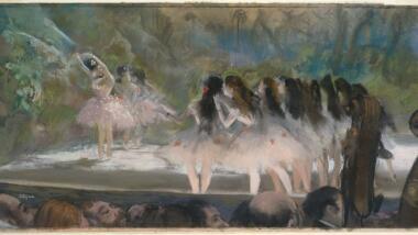 Ballerinas, die auf einer Bühne tanzen