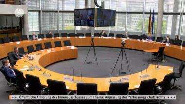 Innenausschuss im Bundestag