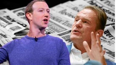 Mark Zuckerberg und Mathias Döpfner