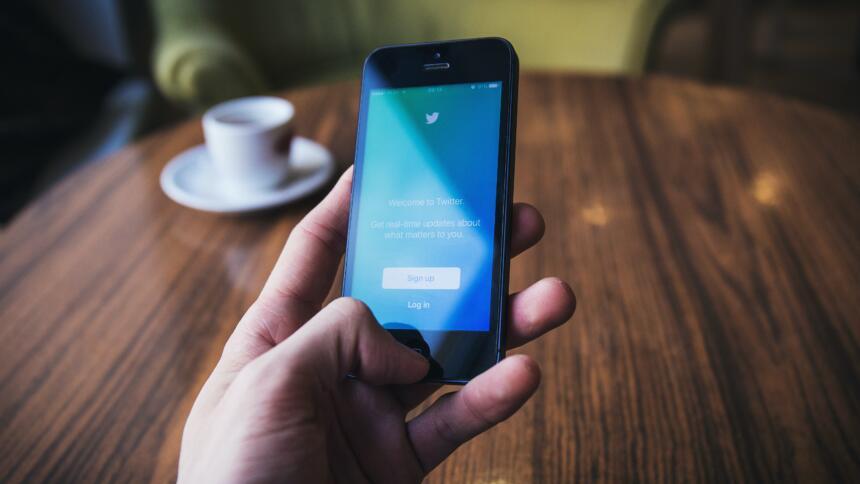 Smartphone-Login auf Twitter