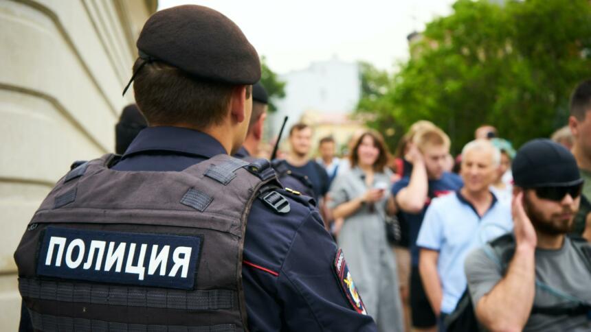 Polizist in Moskau